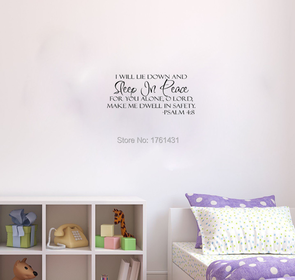 Peace Decorations For Bedrooms Aliexpresscom Buy Sleep In Peace Bible Verse Decor Home