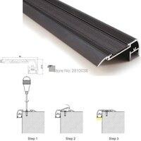 13 X 1M Sets Lot Stair Step Aluminum Profile Led Strip Light And Black Finished Led