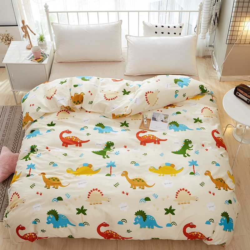 Cartoon Color Dinosaurs Pattern Single Duvet Cover Cotton Comforter Kid/Adult Bedding home textile Customizable size #sw