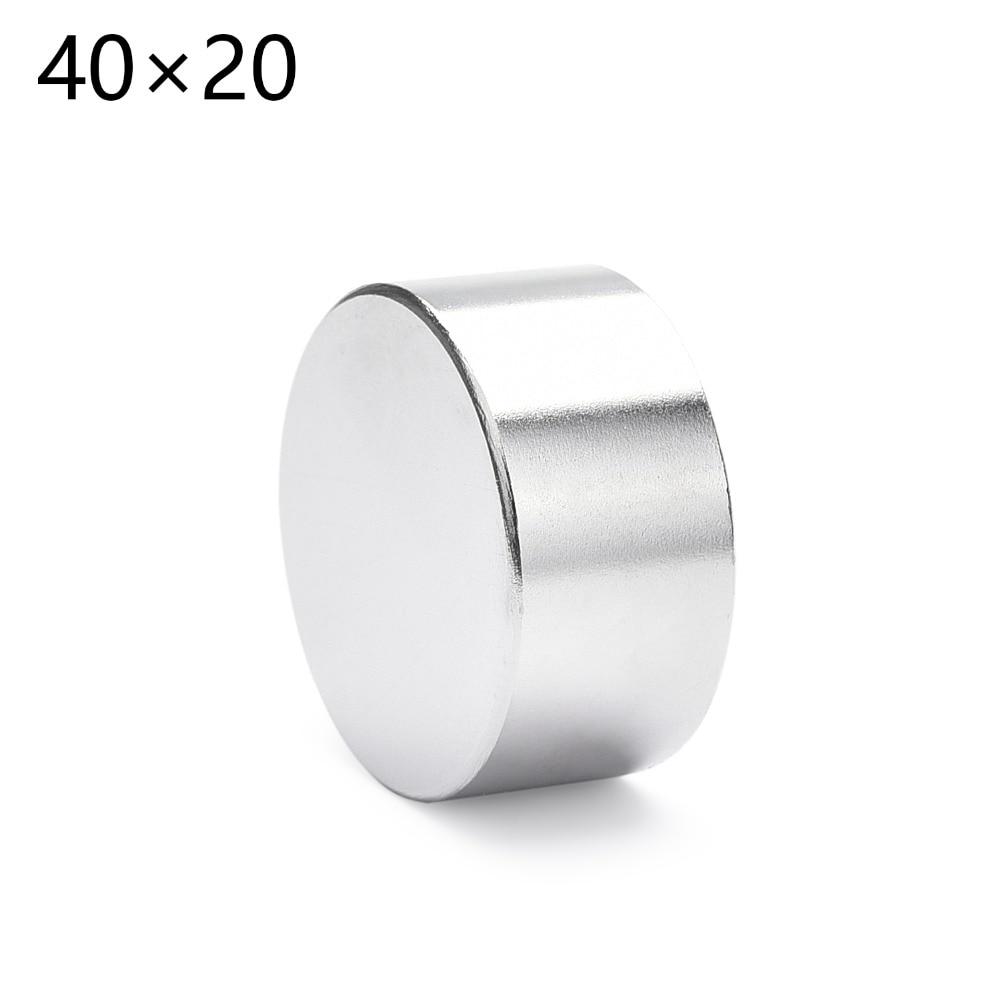 1PCS 40mm x 20mm 40x20 Round Cylinder Neodymium Permanent Magnets 40*20 NEW Art Craft Connection