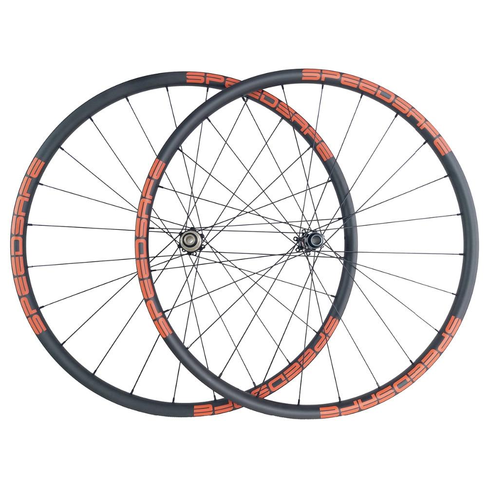 1200g 29er MTB XC 30mm asymmetric carbon wheels 22mm deep 29in clincher tubeless straight pull wheelset