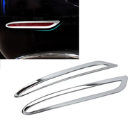 Car Styling 1Pair Chrome Car Rear Fog Light Frame Trim Lamp Covers Fit For Mercedes Benz
