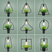Artificial plants single head Pendant Lights Kitchen Restaurants Bar Decorative Home Lighting Fixture Creative Dining Room Lamp