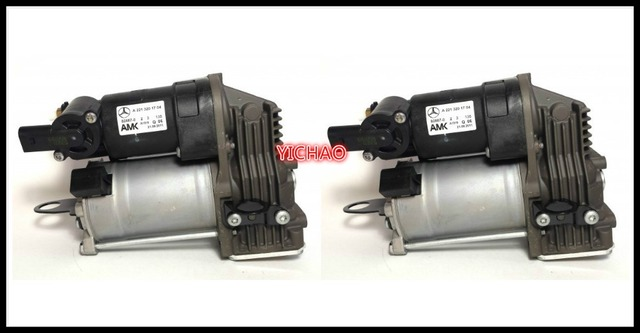 pair  AIR MATIC SUSPENSION COMPRESSOR AIR suspension PUMP A 221 320 17 04 / 2213201704, A 221 320 16 04/ 2213201604 for mercedes