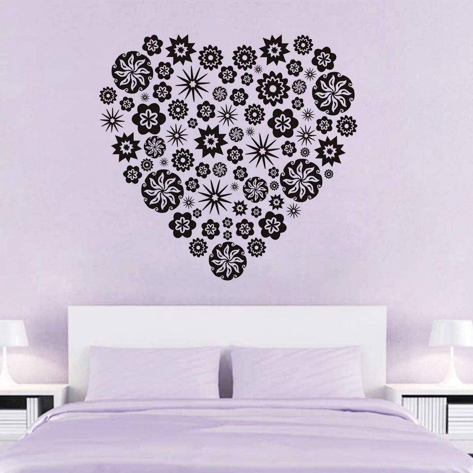 Salle De Bain Achat Et Pose ~ Petite Fleur Motif Coeur Wall Sticker Creative Design Salon Salle De