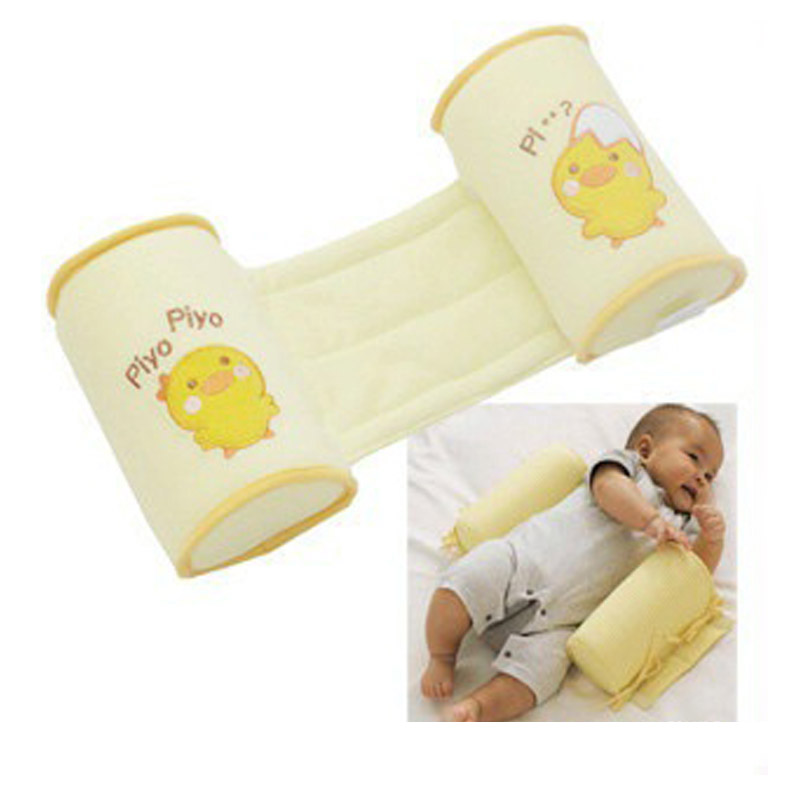 New Baby Crib Infant Baby Bumper Nursing Pillow Toddler Cute Cartoon Cotton Anti Roll Pillow Sleep Flat Head Positioner
