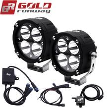 2018 Goldrunway Motorcyc leauxiliary light spotlight 4200LM Motos U3 Driving Spot led Waterproof fog light with Wiring harness