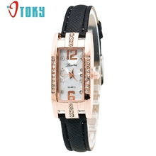 OTOKY reloj Quartz Women Watch Fashion Diamonds Dress Ladies Casual Crystal Thin Wristwatch Leather strap #10 Gift 1pc