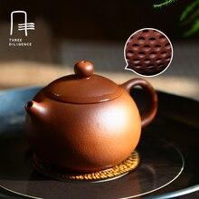 155 ML Reine Handgemachte Teekanne Overlord Stein scoop 155 ML Lila schlamm Lila Ton Wasserkocher Zisha Teekanne Chinesischen Geschenke
