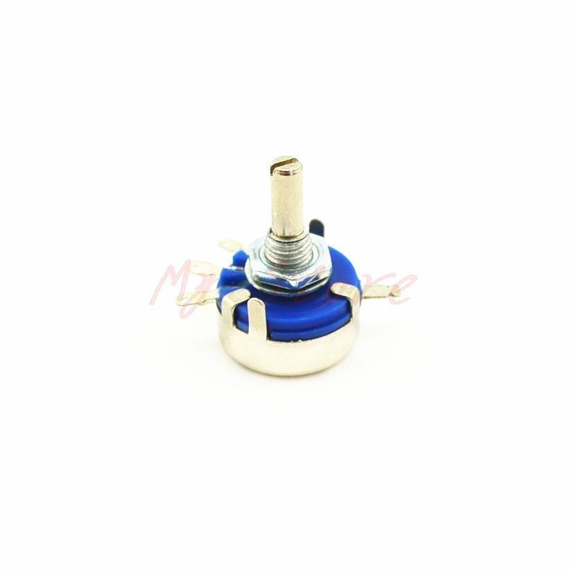 WX14-12 1.5K ohm 4mm Dia Shaft Single Turn Wire Wound Potentiometer 3W 2pcs