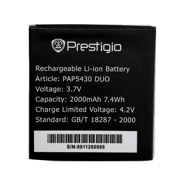 Batterie de remplacement Li-ion PAP5430 DUO 2000 mah de haute qualité pour batterie MultiPhone Prestigio PAP5430 DUO