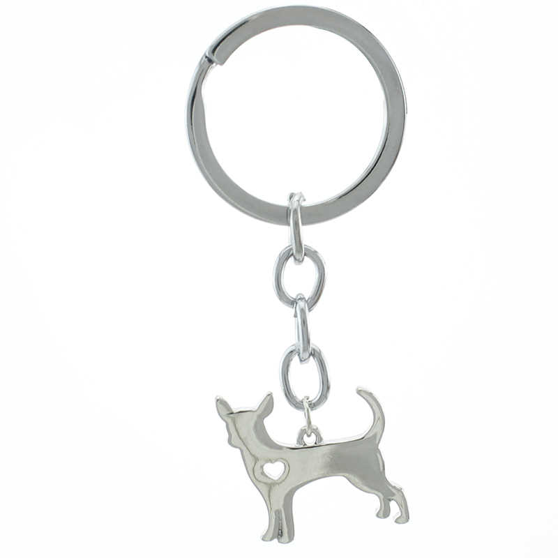 Tafree Chó Mặt Dây Chuyền Mexico Chi Canis Lupus Familiaris Móc Khóa Nam Nữ Thời Trang Dây Thép Không Gỉ Động Vật Móc Chìa Khóa SKU12