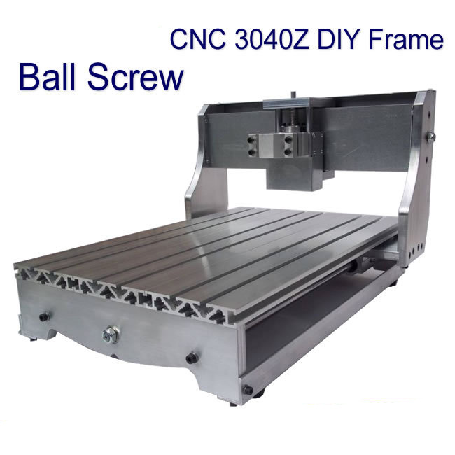 CNC 3040Z DIY Bed Frame 3040 engraving machine lathe Kit with ball screw driving units optical axis and bearings