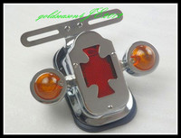 Chrome Cross Assembly Tail Light w/ Turn Signal   for Harley Chopper Bobber Custom
