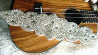 Rhinestone Bridal Sash Applique Crystal Applique Swarovski Crystal Applique Bridal Applique ZP069