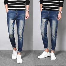 Autumn Youth Classic Blue Jeans Mens Jeans Brand Clothing Ripped Jeans For Mens Denim Jeans Slim Fit Men Pants Non Mainstream