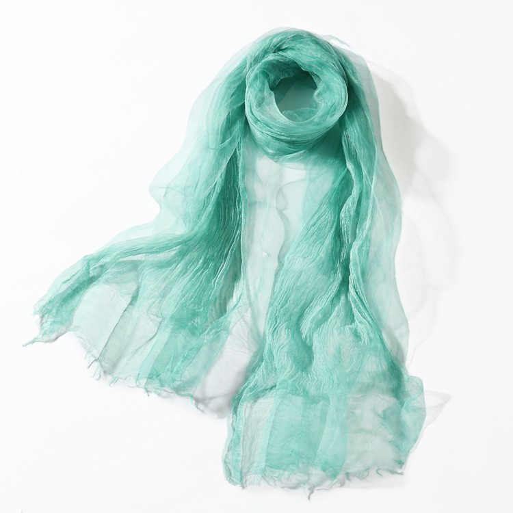 Double Layer Silk Scarf | Lightweight Scarves | Up to 60% Off Now