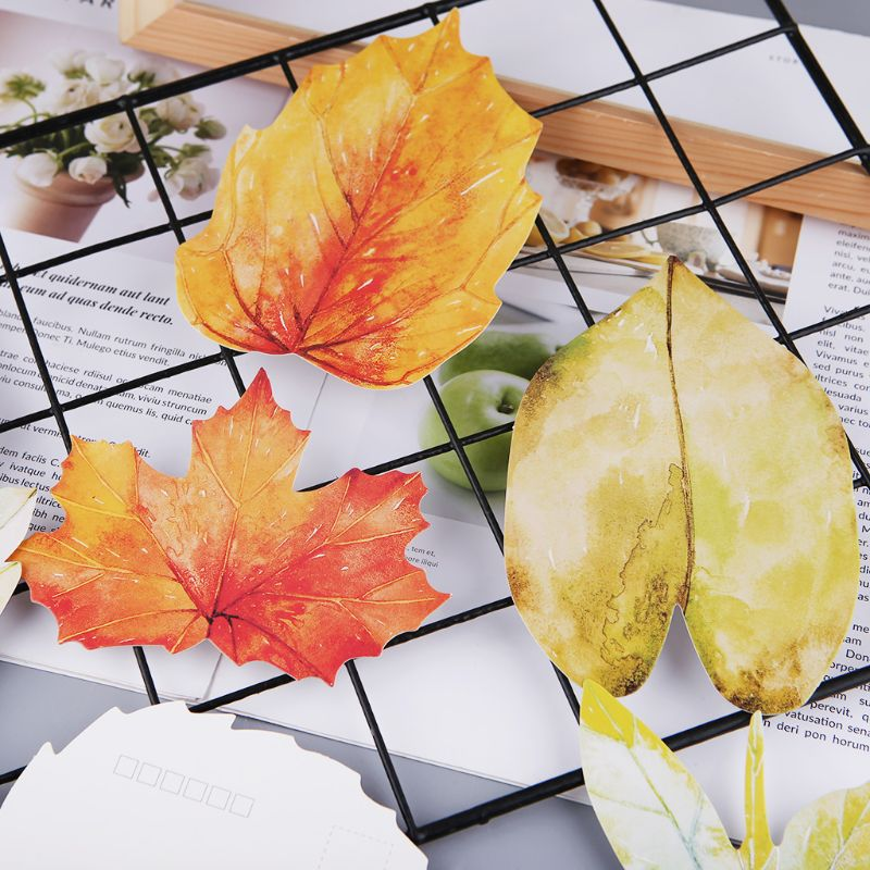 30 Sheets Lovely Leaf Postcard Letter Birthday Gift Card Wish Message Poster Cards 10166