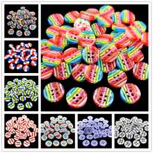 20pcs Beautiful Resin Round Buttons Sewing DIY Clothing Accessories DIYmaterials Scrapbooking Decals for Kids Crafts Accessories