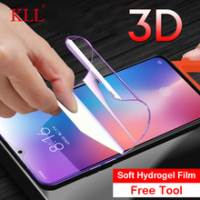 3D Soft Hydrogel Film for Xiaomi 9 SE 8 SE Youth  Mi Play Full Cover Screen Protector for Redmi Note 7 Note 6 Pro Black Shark 2 mi note 2 black