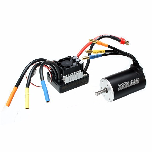 Racerstar 3660 Brushless Waterproof Sensorless Motor 80A ESC For 1/8 1/10 Short Course Rally Car