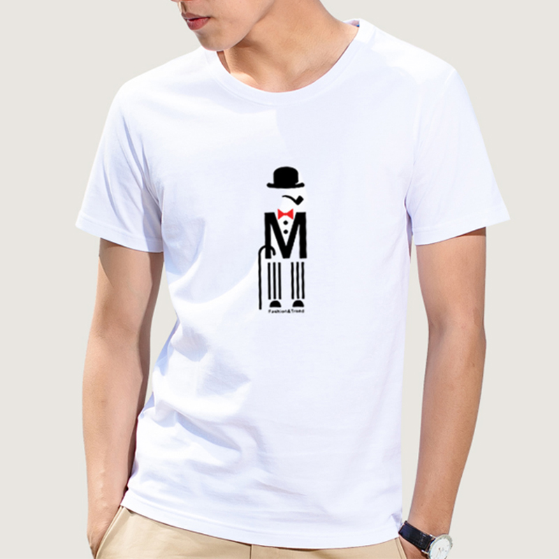 T shirt simple black white charlie chaplin t shirt character print tees tops for teens unisex simple shirt teenagers for boys