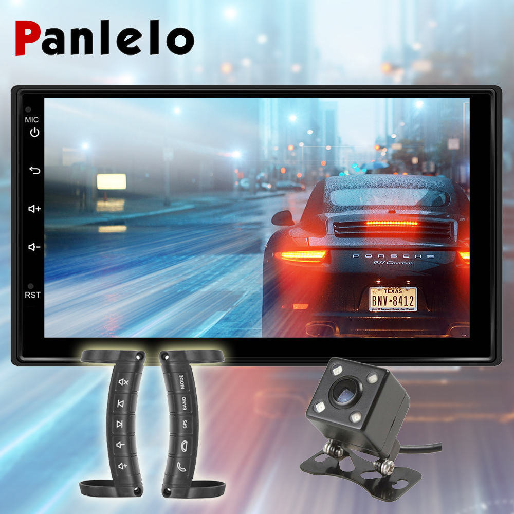 Panlelo Android 2 Din Eight Core Car Radio 2G RAM 16G ROM 7 inch Car Video Player with RDS GPS Navigation Head Unit Autoradio panlelo 2 din android 6 0 car stereo 7 inch quad core head unit 1080p gps navigation audio radio built in wi fi bluetooth rds