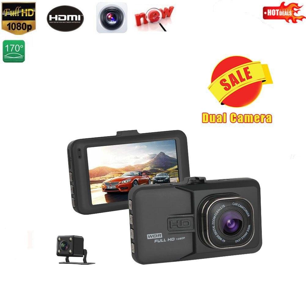 Voiture DVR voiture caméra Dash Cam Dash caméra enregistreur vidéo double caméra Oncam T636 1080 P Full HD 170 degrés angle g-sensor