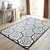 American Style Luxury Cowhide Seamed Rug Modern Black And White Geometric Pattern Cowskin Chequer Carpet For