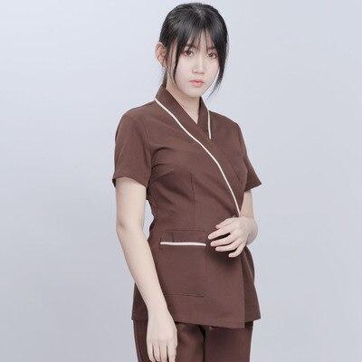 2019 Summer New Cosmetologist Work Clothes Foot Bath Pedicure Shop Female Technician Wear SPA Club Health Club Set