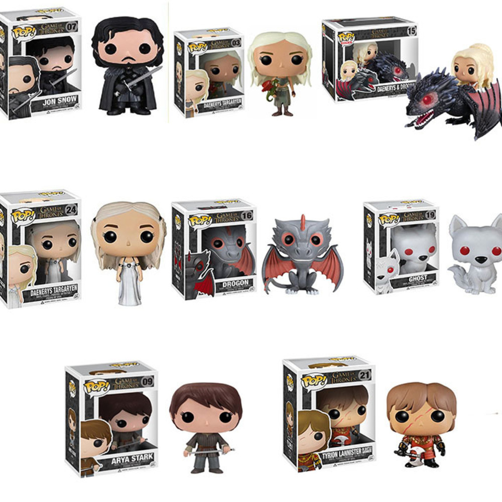 Funko POP Game Of Thrones HBO TV Right Real Game Periphery Joan Danny Lise Black Dragon Doll Handmade Jewelry Accessories