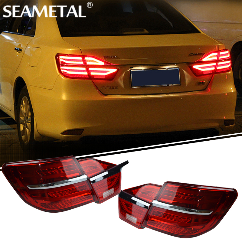 Car Tail Light For Toyota Camry 2014+ 2015 2016 12V Car LED Rear lights DRL Taillight Rolling Turning Signal Auto Rear Light