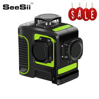 12 Lines 3D Green Level Self Leveling Laser Level Vertical Horizontal Cross Super Powerful Laser Beam Line Outdoor 3D Lasers