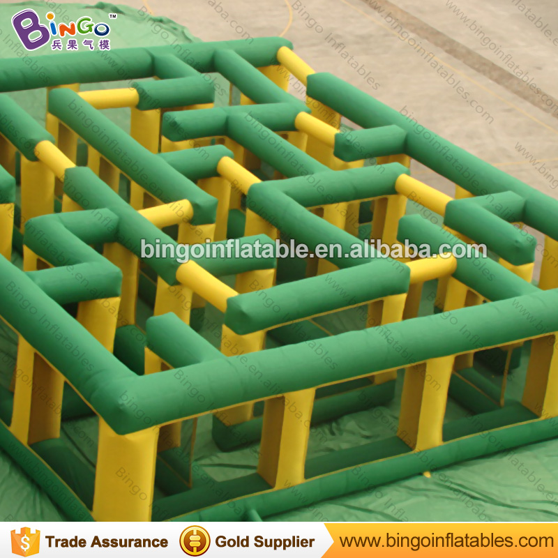 Free delivery 36*30ft durable inflatable maze giant inflatable games inflatable playground puzzle for kids N adults sport toy