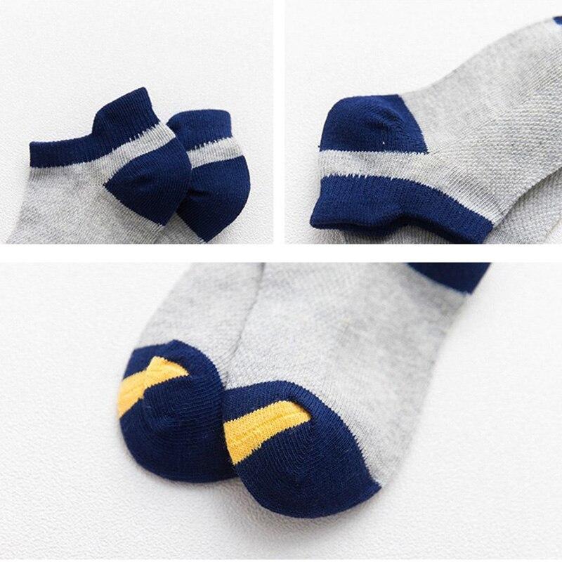 10Pcs/lot Spring Summer children's socks Mesh Cotton Socks for a boy Striped Solid socks for children Girls Kids Sport Socks 3