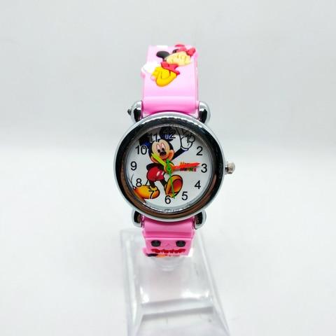 4D Cartoon Mickey Girl Boy Student Watch Children Silicone Quartz Wristwatches Kids Watches Birthday Gift Clock Reloj Mujer Six Multan