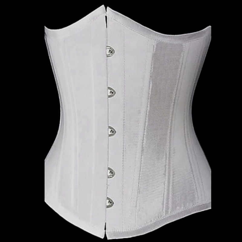 20fbf0ed8c Vintage White Lace Up Waist Trainer Tummy Control Women Waist Bodycon  Corsets Cincher Slimming Body Shaper