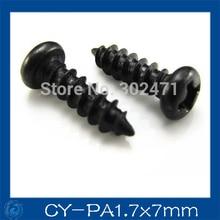 HOT SALE!! 300pcs/ cctv Camera screws, Round head PA1.7 * 7mm
