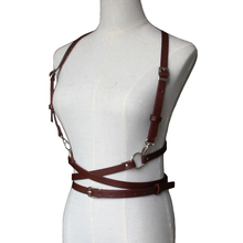 New brand sexy women men faux Leather belts slim Body Bondage Cage Sculpting Punk Harness Waist Straps Suspenders Belt for women