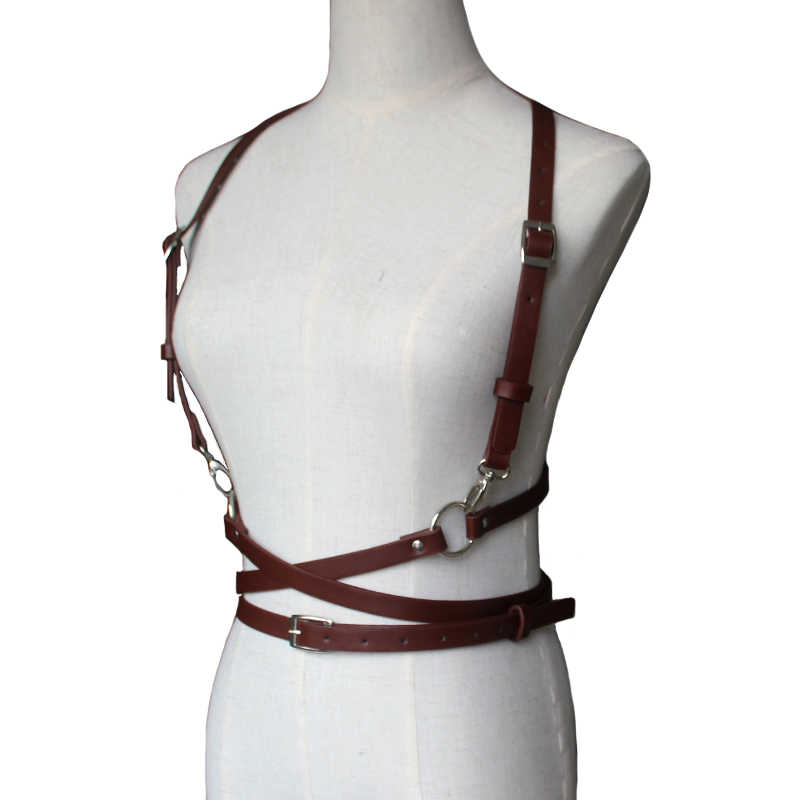 ใหม่เซ็กซี่ผู้หญิงผู้ชายหนังเข็มขัด Slim Bondage กรง Sculpting แฟชั่น Punk สายรัดสายรัดเอว Suspenders เข็มขัดอุปกรณ์เสริม