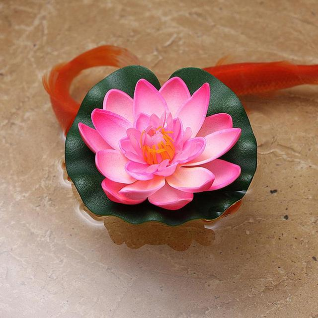 Floating Garden Artificial Fake Lotus Flower Foam Lotus Flowers