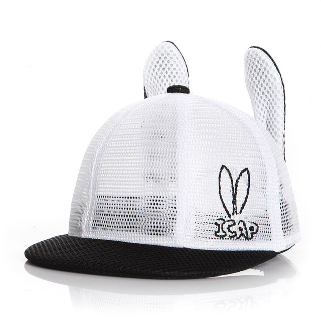 9f384871275 Lovely Baby kids Bunny Ear summer hat Mesh Children boy girl Baseball Cap  Sun Hats for
