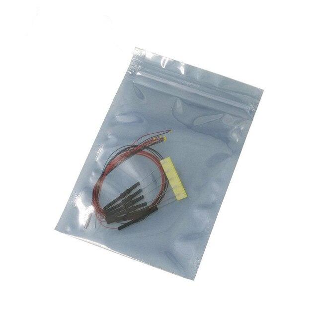 """100 יחידות 8 v 12 v 0402 0603 0805 1206 מראש מולחם מיקרו ליץ SMD LED led wired מוביל 20 ס""""מ"""