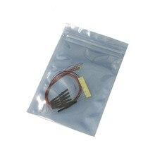 100 pcs 8 v v 0402 0603 0805 1206 Pré soldada 12 micro SMD led com fio litz leva 20 cm