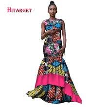 Bazin Riche African Dresses for Women Bride Vestidos Kanga Clothing Dashiki Wax Print Splice Lace Clothes WY1738