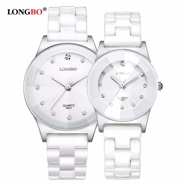 2020 LONGBO Top Brand Fashion Quartz White Ceramic Lovers Watches Luxury Casual Unique Ladies Dress Wristwatch Relogio Feminino