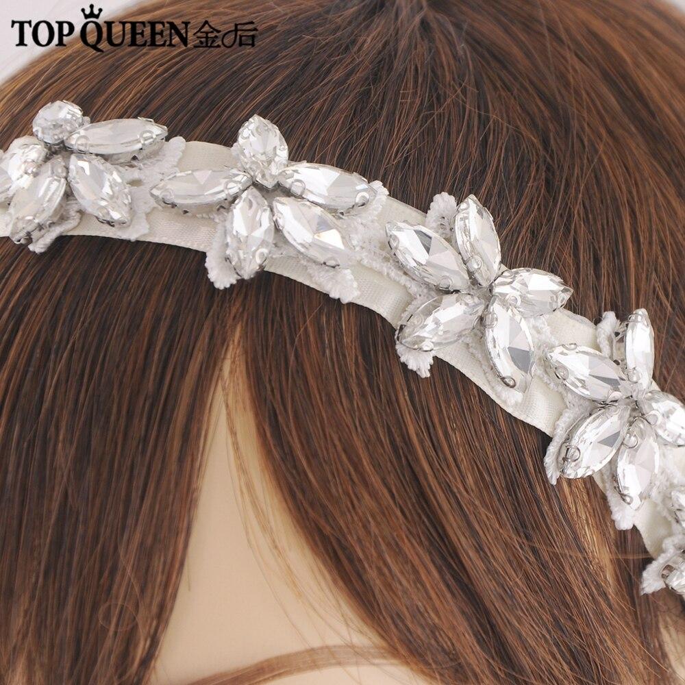 Купить topqueen h96 модные стразы повязки для волос аксессуары с украшением