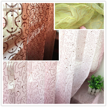 Europe style Embroidered Custom made finished curtain custom window tulle curtain for living room baby room
