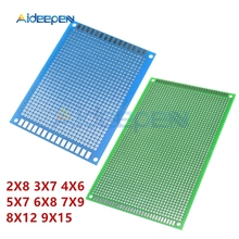 Двусторонняя Оловянная универсальная плата 4X6 5X7 7X9 8X12 2X8 3X7 9X15 6X8 электронная паяльная печатная плата для Arduino