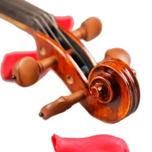 Image 4 - כינורות מקצועי מחרוזת מכשירי כינור 4/4 טבעי פסים מייפל Violon מאסטר יד קרפט Violino עם מקרה קשת רוזין